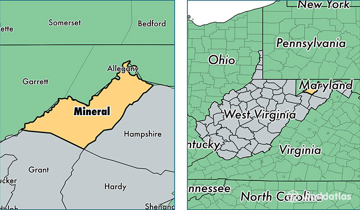 Mineral County West Virginia Map Of Mineral County Wv Where Is
