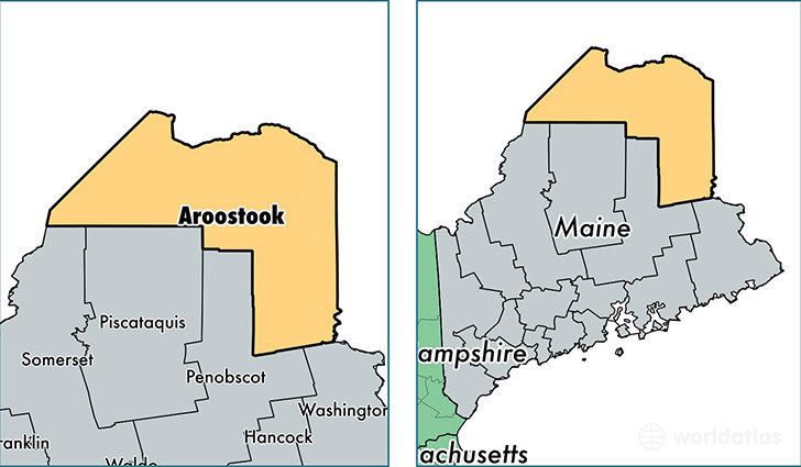 Aroostook County Maine Map Of Aroostook County Me Where Is