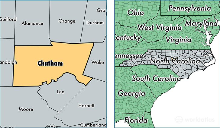 Chatham County, North Carolina / Map of Chatham County, NC / Where on