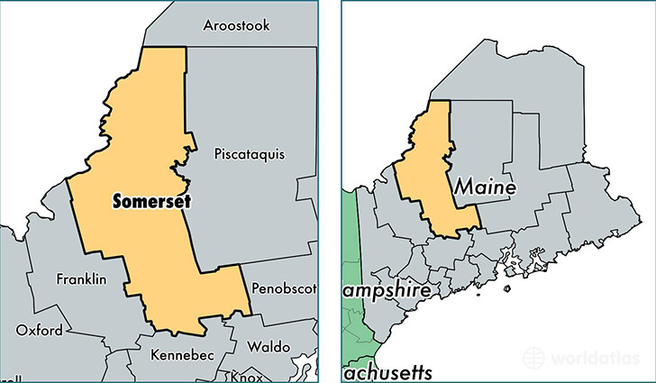 location of Somerset county on a map