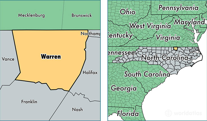 Warren County North Carolina Map Of Warren County Nc Where Is