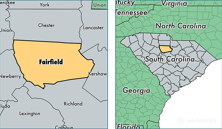 location of Fairfield county on a map