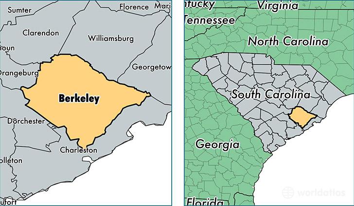 Berkeley County South Carolina Map of Berkeley County SC Where