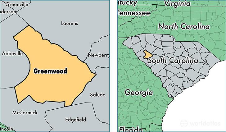 Greenwood County South Carolina Map Of Greenwood County Sc