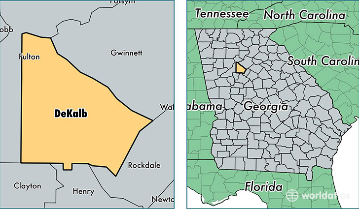 DeKalb County, Georgia / Map of DeKalb County, GA / Where is DeKalb on