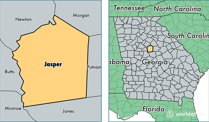 Jasper County Georgia Map Of Jasper County GA Where Is - Counties of georgia map