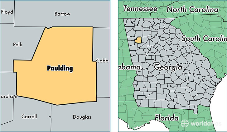 location of Paulding county on a map