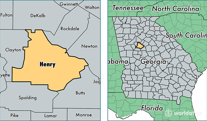 location of Henry county on a map