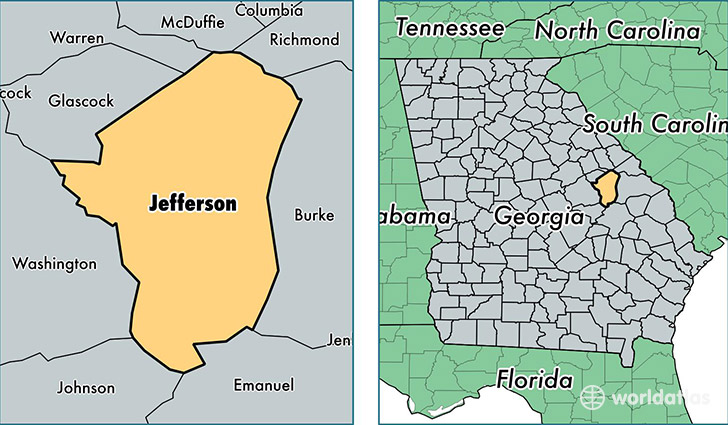 jefferson county georgia map of jefferson county ga where is