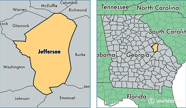 Jefferson County Georgia Map Of Jefferson County GA Where Is - Jefferson georgia map