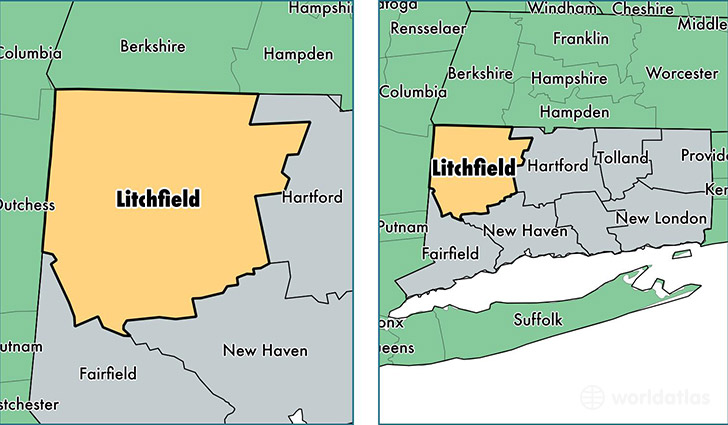 Litchfield County Connecticut Map Of Litchfield County CT - Connecticut on us map