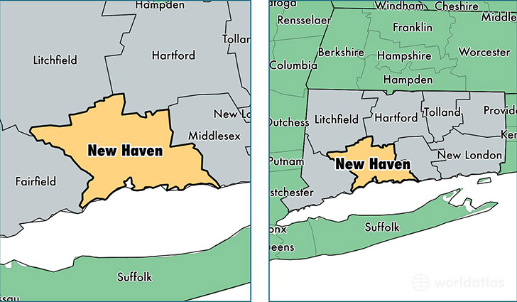 New Haven County Connecticut Map Of New Haven County CT - Connecticut on us map