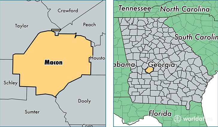 Macon County Georgia Map Of Macon County GA Where Is Macon - Georgia map macon