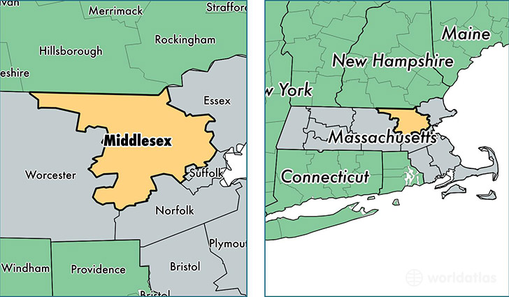 7-middlesex-county-machusetts Map With All Of The Major Attractions United States on