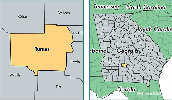Turner County, Georgia / Map of Turner County, GA / Where is Turner ...