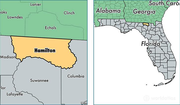 hamilton county florida map