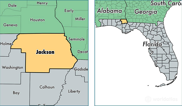 Jackson County Florida Map of Jackson County FL Where is