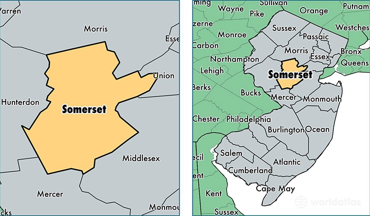 Somerset Nj Map Somerset County, New Jersey / Map of Somerset County, NJ / Where  Somerset Nj Map