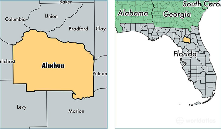 Alachua Florida Map.Alachua County Florida Map Of Alachua County Fl Where Is
