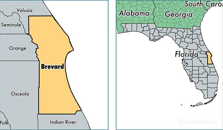 Brevard County Florida Map of Brevard County FL Where is
