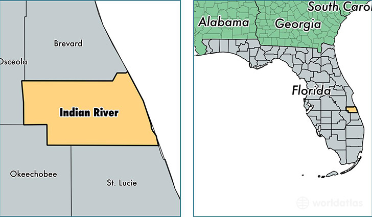 location of Indian River county on a map