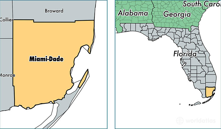 Miami Dade Map Miami Dade County, Florida / Map of Miami Dade County, FL / Where