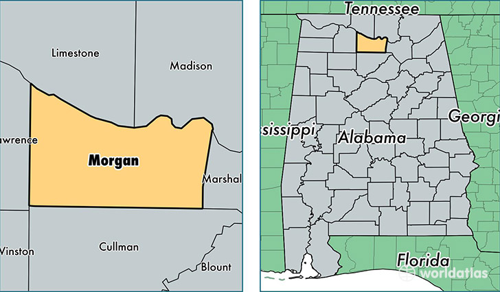 location of Morgan county on a map