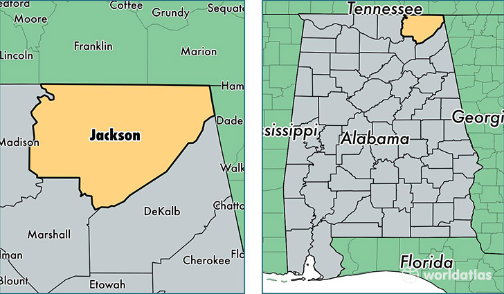 Jackson County Alabama Map of Jackson County AL Where is