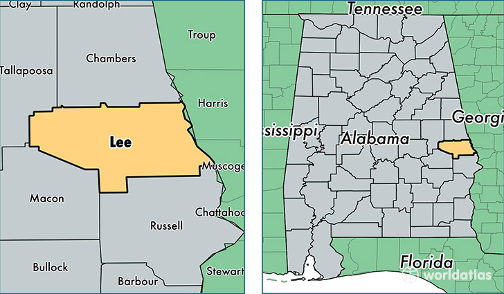 Lee County Maps Lee County, Alabama / Map of Lee County, AL / Where is Lee County? Lee County Maps