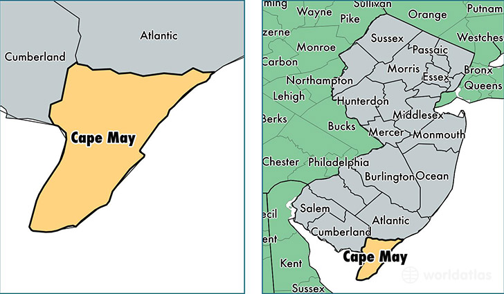 Cape May County New Jersey Map of Cape May County NJ Where