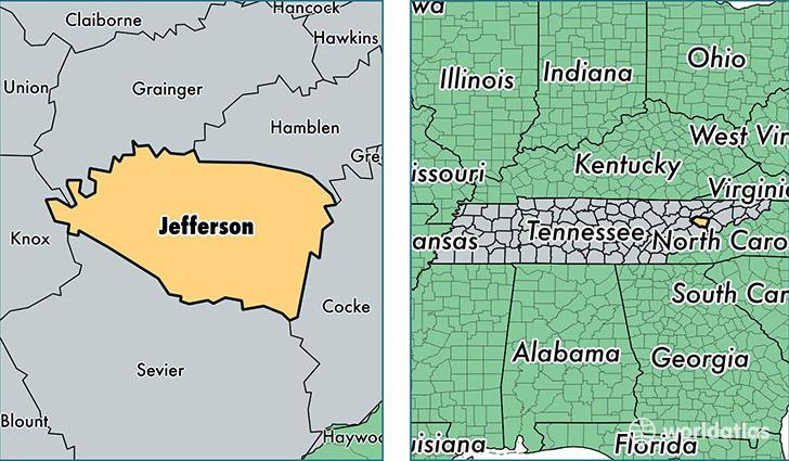 Jefferson County Tennessee Map Of Jefferson County TN Where - Jefferson georgia map