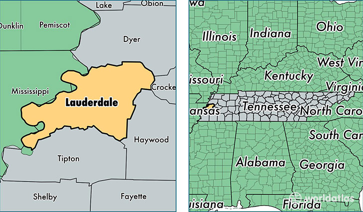Lauderdale County Tennessee Map Of Lauderdale County Tn Where