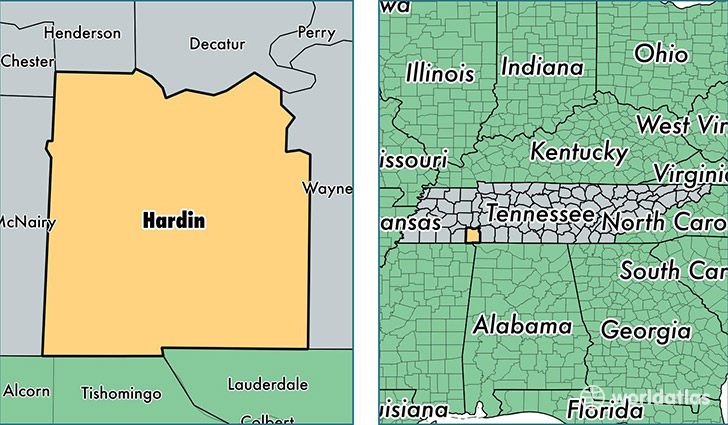 Hardin County Tennessee Map Of Hardin County Tn Where Is