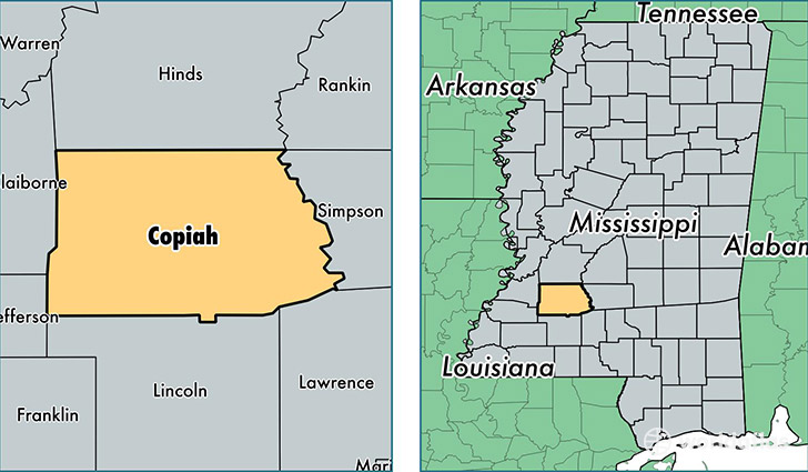 Hazlehurst (MS) United States  city pictures gallery : ... , Mississippi / Map of Copiah County, MS / Where is Copiah County
