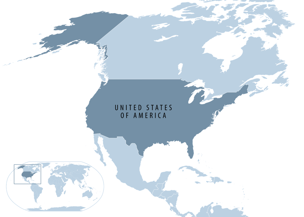 United States Of America World Map.United States Map
