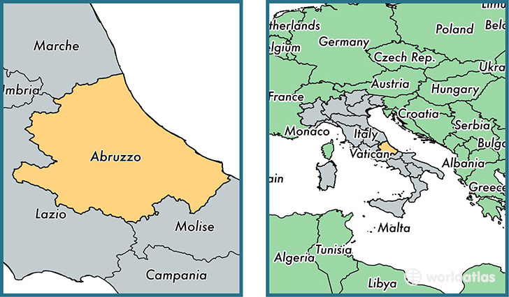 Abruzzo Italy Map Abruzzo region, Italy / Map of Abruzzo, IT / Where is Abruzzo  Abruzzo Italy Map