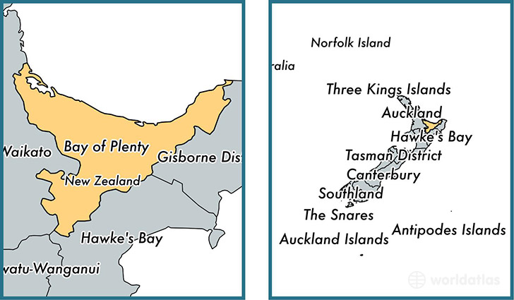 Location of regional council of Bay of Plenty on a map