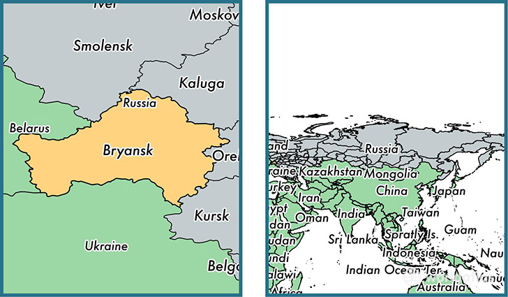 Bryansk Oblast Administrative Region Russia Map Of Bryansk - Russia administrative map