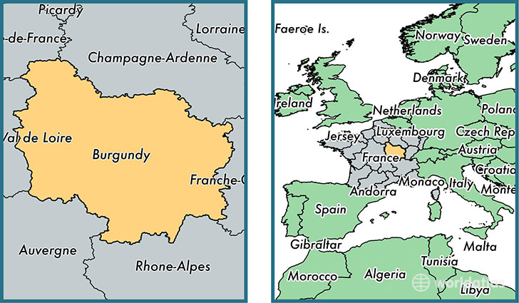 Regions In France Map.Where Is Burgundy Metropolitan Region Where Is Burgundy Located