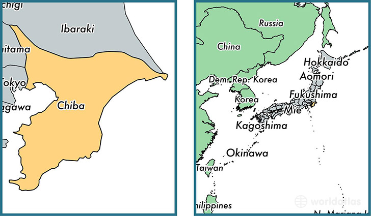 Chiba prefecture Japan Map of Chiba JP Where is Chiba
