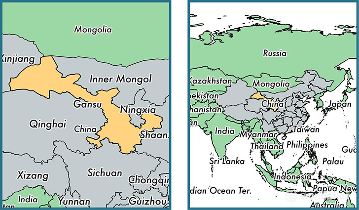 Gansu China Map.Gansu Province China Map Of Gansu Cn Where Is Gansu Province