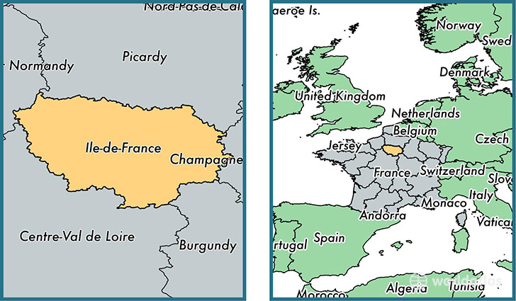 Where is IledeFrance metropolitan region Where is IledeFrance