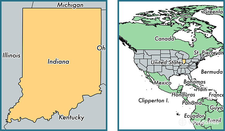 is Indiana state? / Where is Indiana Located in The World? / Indiana ...