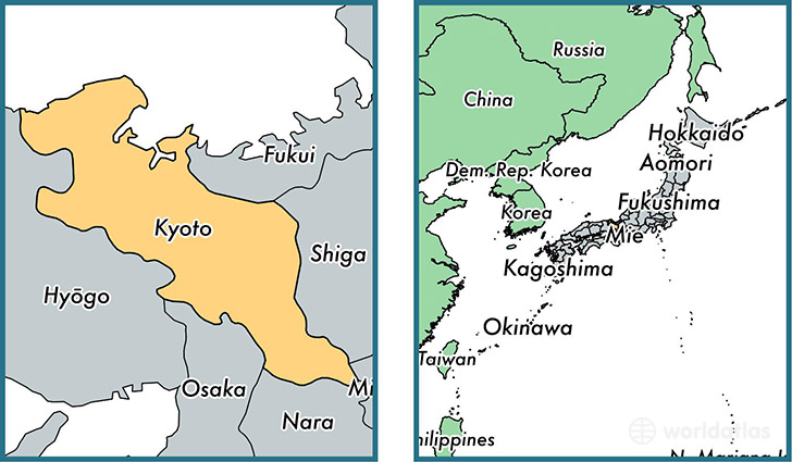 Kyoto prefecture, Japan / Map of Kyoto, JP / Where is Kyoto