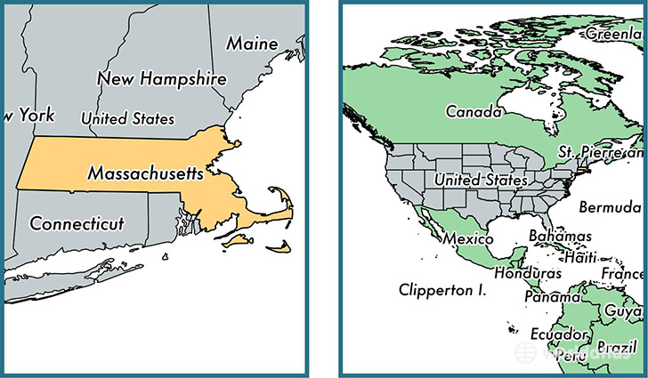 Where is Massachusetts state  Where is Massachusetts Located in