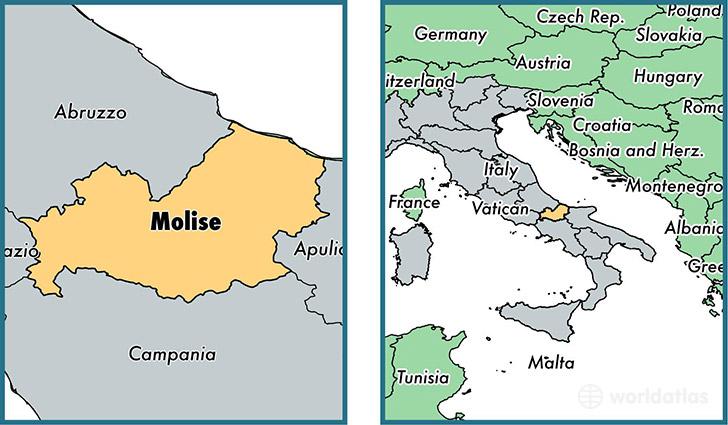 Molise Region Italy Map Of Molise It Where Is Molise