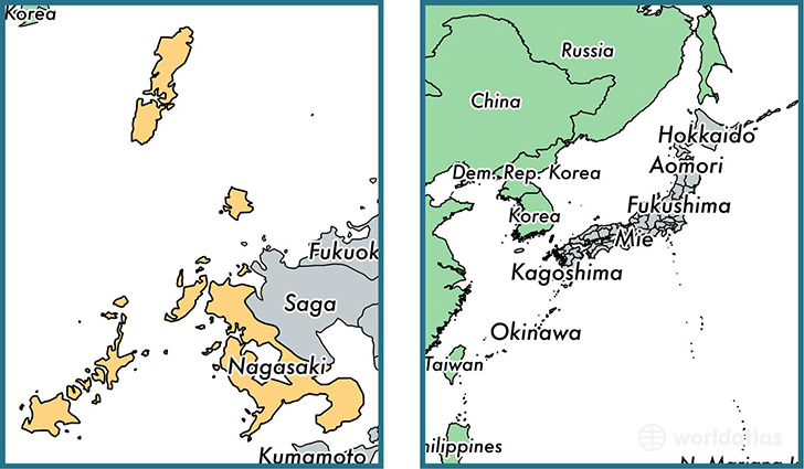 Nagasaki On World Map.Nagasaki Prefecture Japan Map Of Nagasaki Jp Where Is Nagasaki