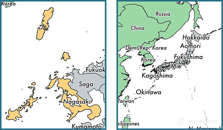 Nagasaki Prefecture Japan Map Of Nagasaki JP Where Is - Japan map nagasaki