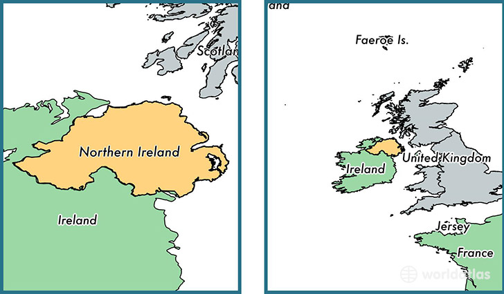 Where is northern ireland province where is northern ireland location of province of northern ireland on a map gumiabroncs Image collections