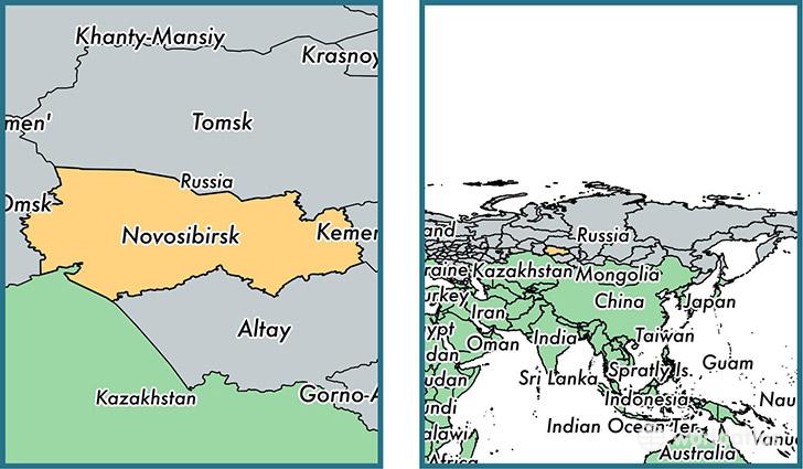 Novosibirsk Oblast administrative region, Russia / Map of
